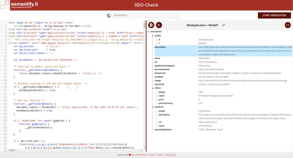 Screenshot of SDO-Check